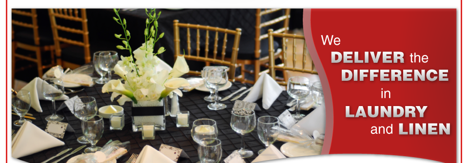 We Deliver the Difference in Laundry and Linen | Banquet Table