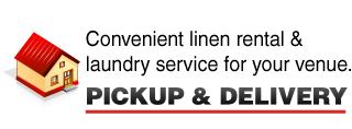 Convenient laundry & linen service at your door. - PICKUP & DELIVERY